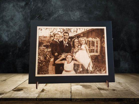 Gravure sur bois de votre photo