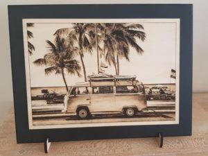 Gravure photo bois van Volkswagen