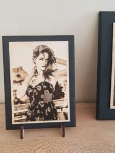 photo sur bois femme portrait