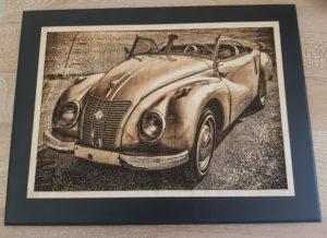 Photo sur bois vieille voiture