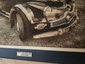 tableau gravure photo sur bois