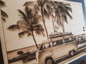 Volkswagen photo sur bois