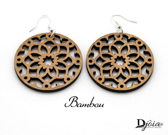 boucles d'oreilles bois Bambou Actarus