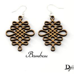 Boucles d'oreilles bois bambou Antarès