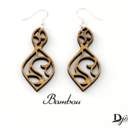 Boucles d'oreilles bois minimaliste Deneb