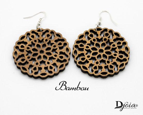 boucles d'oreilles bois bambou Schaula