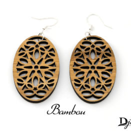 Boucles d'oreilles bois bambou Spica