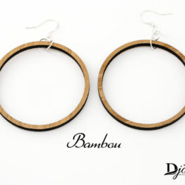 Boucles d'oreilles bois creole claire