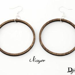 Boucles d'oreilles bois creole foncée