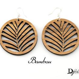 Boucles d'oreilles tropicales bambou