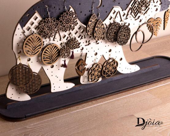 porte bijoux ours double exposition