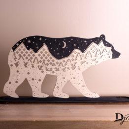 porte bijoux ours montagne nuit