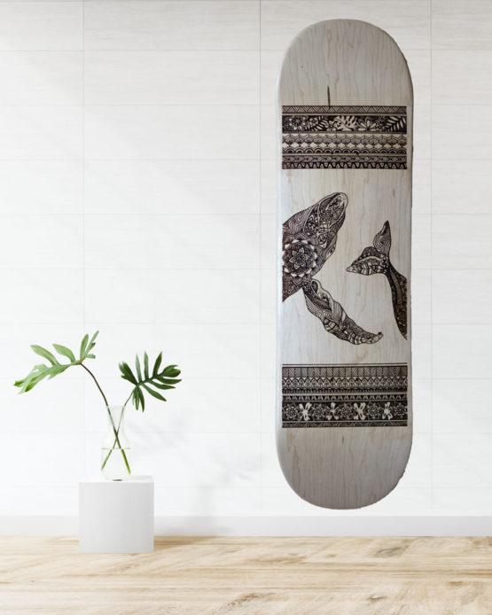 Skate baleine mandala