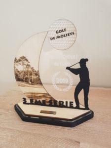 Trophée golf personnalisé