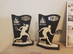 trophée tennis personnalisé
