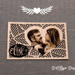 carte cadeau photo sur bois
