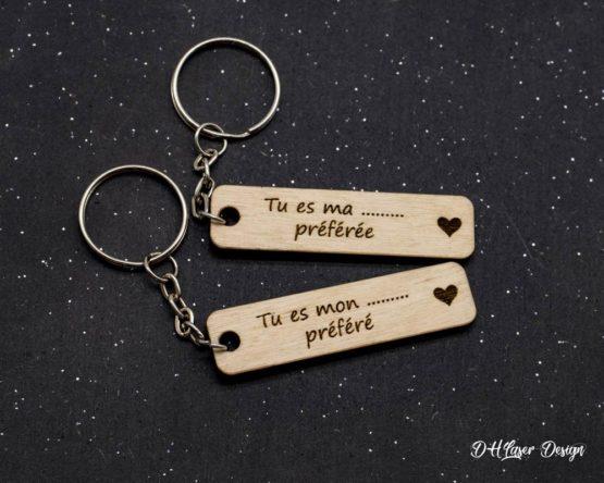 Porte clé en bois tu es ma