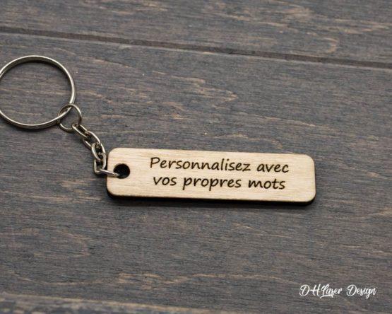 porte clé en bois à personnaliser