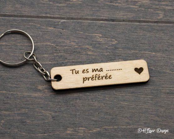 porte clés en bois tu es ma