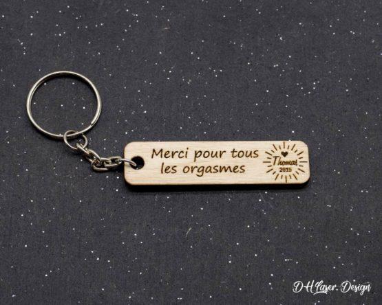 porte clés en bois remerciement