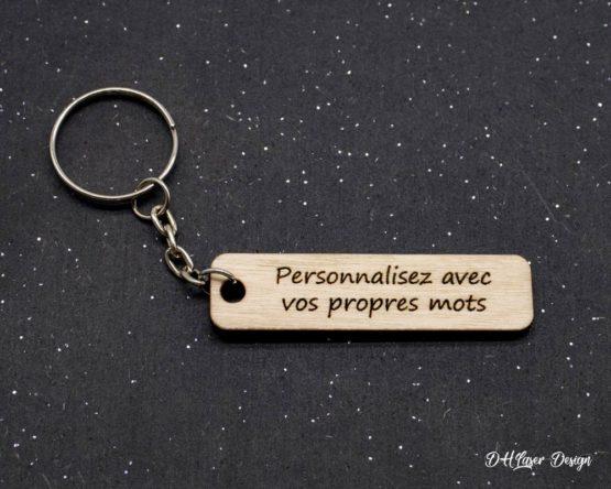 Porte clé en bois personnalisable