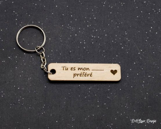 porte clés en bois tu es mon