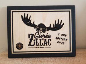 Logo sur bois givrée du zillac