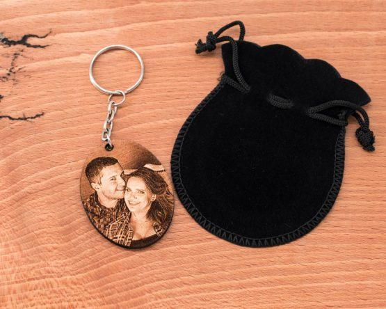 Porte clé ovale cadeau