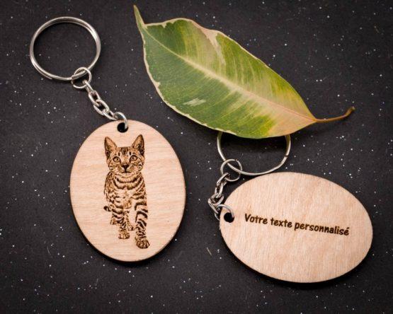 porte clé chat personnalisé